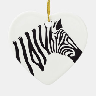 ZEBRA HEAD ART CHRISTMAS ORNAMENT