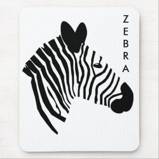 Zebra head close up portrait illustration mousepad