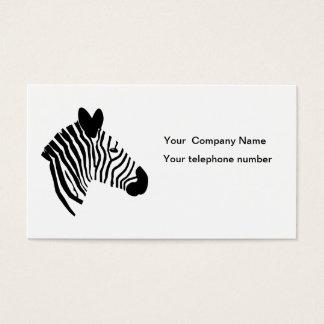 Zebra head illustration art custom business card