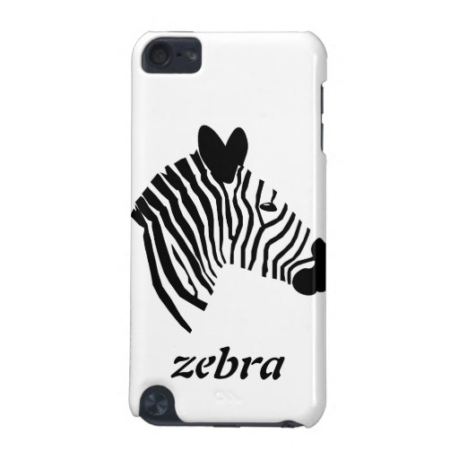 Zebra head illustration ipod touch 4G case iPod Touch 5G Cases