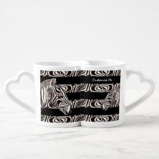 Zebra Head Lovers Mug