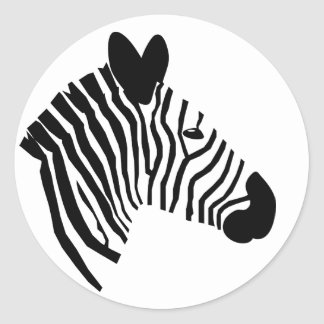 Zebra head portrait close-up illustration stickers
