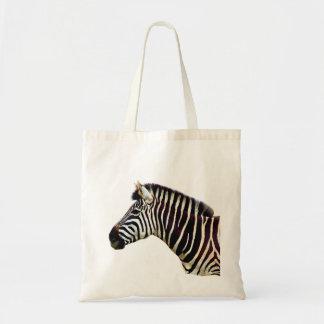 Zebra Head to Shoulder Budget Tote Bag
