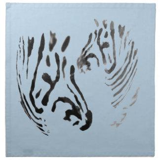 Zebra Heads Wildlife Art Napkin