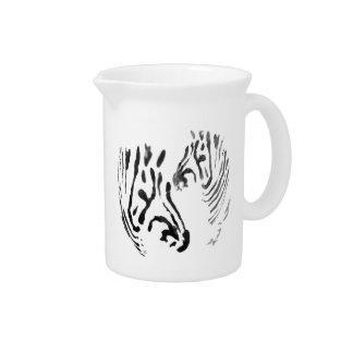 Zebra Heads Wildlife Art Pitcher