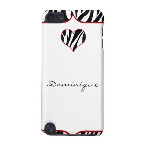 Zebra Heart iPod Touch (5th Generation) Cover