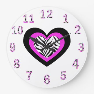 Zebra Heart Clock