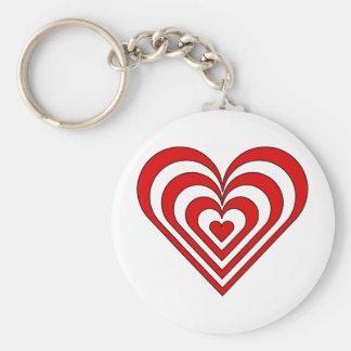 Zebra Heart Optical Illusion Key Chain