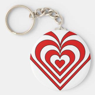 Zebra Heart Optical Illusion Keychains