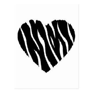 Zebra Heart Postcard