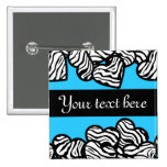 Zebra hearts Button