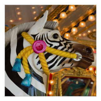 Zebra Horse Merry-Go-Round Carousel Ride