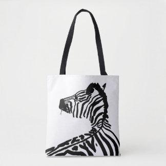 Zebra illustration tote bag