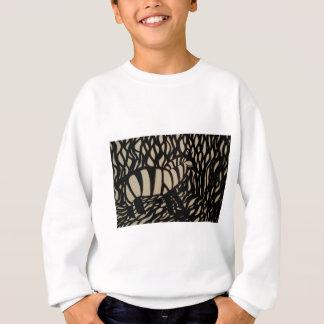 Zebra in camouflage sweatshirt