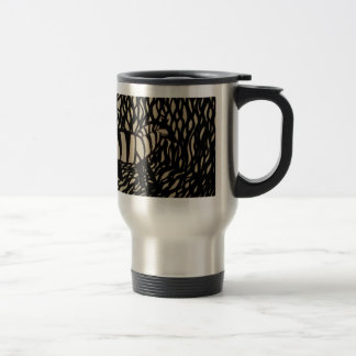 Zebra in camouflage travel mug