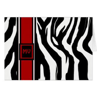 Zebra Initials Greeting Card