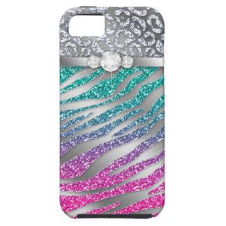 Zebra iPhone Case Mate Tough Jewelry Glitter Pink iPhone 5 Cover