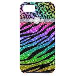 Zebra iPhone Case Mate Tough Rainbow Glitter B Case For The iPhone 5