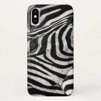 Zebra iphone x cover, animal print case