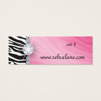 Zebra Jewelry Hang Tag Fashion