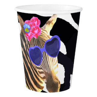 Zebra jungle animal fashion baby shower paper cup