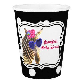 Zebra jungle cute animal black polka dot paper cup