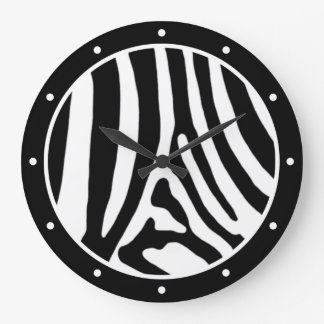 Zebra Large Clock