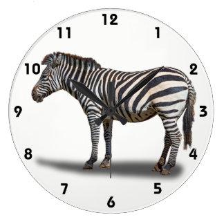 ZEBRA LARGE CLOCK