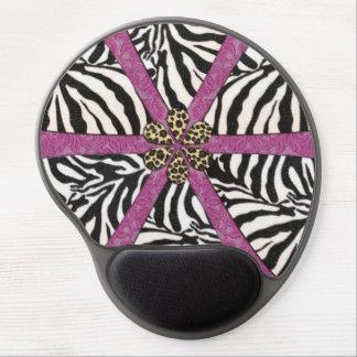 Zebra Leopard and Lace Design Gel Mouse Pad