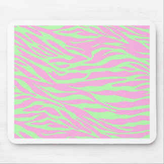 zebra, lime and pink zebra, wild animal, jungle, mouse pad