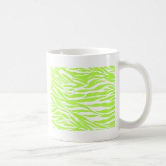 zebra, lime  zebra, wild animal, jungle, wild basic white mug
