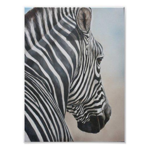 Zebra Look Wildlife Art Animal Print Photo