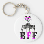 Zebra Love - BFF Keychains