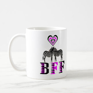 Zebra Love - BFF Coffee Mug