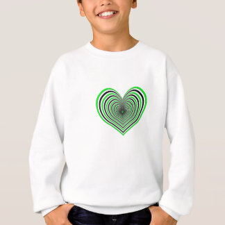Zebra Love heart Sweatshirt