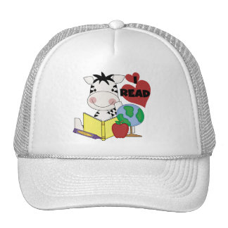 Zebra Love to Read Tshirts and Gifts Mesh Hat