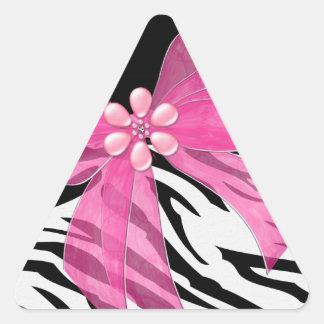 Zebra Love Triangle Sticker