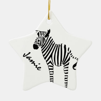 Zebra Lovers Gifts Christmas Ornament