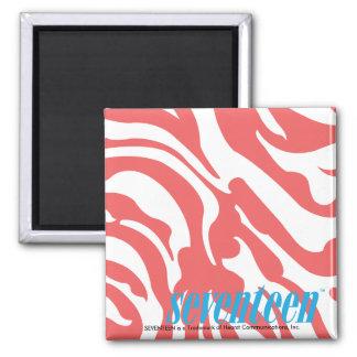 Zebra LtPink Refrigerator Magnets