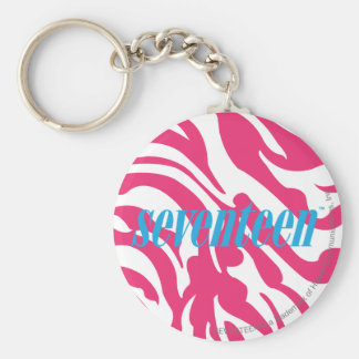 Zebra Magenta Key Ring