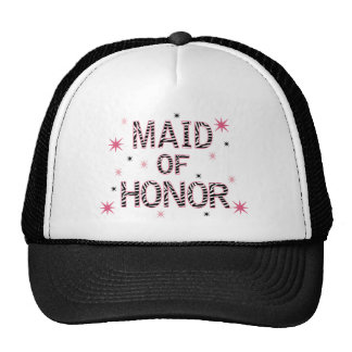 Zebra Maid of Honor Mesh Hats