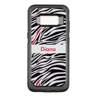 Zebra Monogram Animal Pattern OtterBox Commuter Samsung Galaxy S8 Case