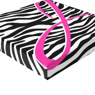 Zebra Monogram Canvas Print