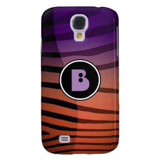 Zebra Monogram  Galaxy S4 Case