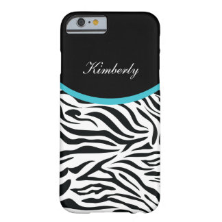 Zebra Monogram Style Barely There iPhone 6 Case