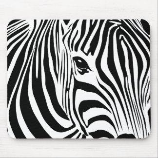 Zebra Mousepad (Black)