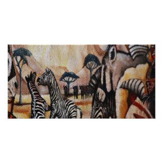 Zebra Mural Picture Card