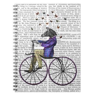 Zebra On Bicycle Notebook