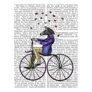 Zebra On Bicycle Postcard