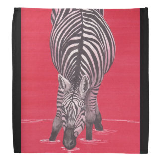 Zebra On Red Bandana